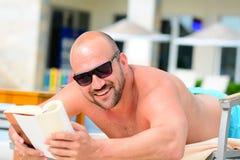 Man reading a book Stock Photography