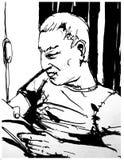 Man reading book Stock Photo