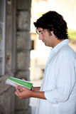Man reading a brochure Royalty Free Stock Photo
