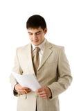 Man reading contract Royalty Free Stock Photos