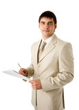 Man reading contract Royalty Free Stock Photography