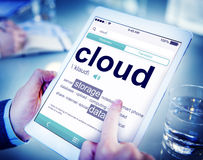 Man Reading the Definition of Cloud Royalty Free Stock Photo