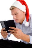 Man reading diary Royalty Free Stock Images