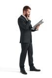 Man reading documents Royalty Free Stock Image