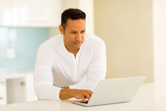 Man reading emails Royalty Free Stock Photo