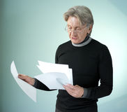Man reading impormant papers Stock Images
