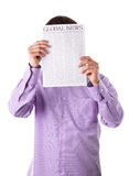 Man reading a newspaper Royalty Free Stock Photography