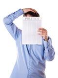 Man reading a newspaper Royalty Free Stock Photos