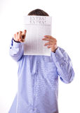 Man reading a newspaper Stock Photo