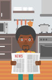 Man reading newspaper. Royalty Free Stock Image