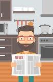 Man reading newspaper. Royalty Free Stock Photo