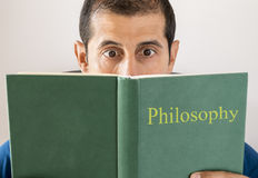 Free Man Reading Philosophy Royalty Free Stock Photography - 36122267