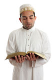 Man reading a religious or other book Royalty Free Stock Image