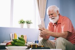 Man reading sad message royalty free stock photography