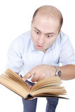 Man reads Stock Photography