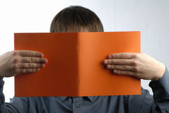 Man reads Stock Image