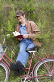Man reads book Royalty Free Stock Photo