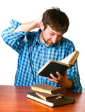 Man reads a book Royalty Free Stock Photo