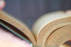 Man reads book closeup royalty free stock photo