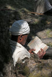 Man reads book. Stock Image