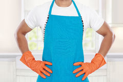Man ready to do some cleaning Stock Photo