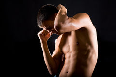 Man is ready to fight. For his rights Royalty Free Stock Photography