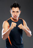Man ready to fight Stock Images