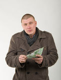 Man ready to pay Royalty Free Stock Photos