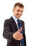 Man ready to set a deal Royalty Free Stock Photo