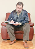 Man ready to take notes Stock Photos