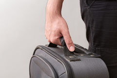 Man Ready For Travelling with His Luggage Royalty Free Stock Photography