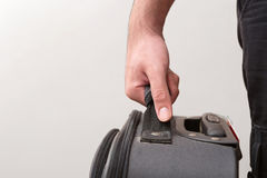 Man Ready For Travelling with His Luggage Stock Image