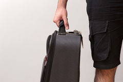 Man Ready For Travelling with His Luggage Royalty Free Stock Photos