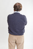 Man rear view with crossed arms Stock Photography