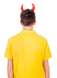 Man Rear View with Devil Horns Stock Photography