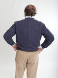 Man rear view hands on hips Stock Photography