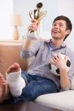 Man recalling good times Stock Image