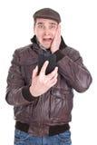 Man receiving bad message Royalty Free Stock Image
