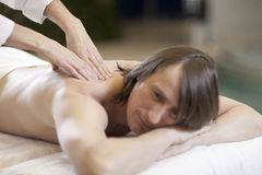 Man receiving massage relax treatment Royalty Free Stock Photos