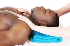 Man receiving massage Stock Photos