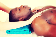 Man receiving massage Royalty Free Stock Images