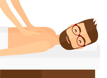 Man recieving massage Royalty Free Stock Photography