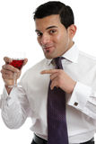 Man recommending wine Stock Photo