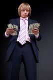Man recounts money. Royalty Free Stock Photos