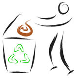 Man recycle symbol Royalty Free Stock Image