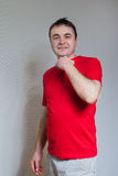 Man in red. Royalty Free Stock Photography