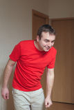 Man in red. Royalty Free Stock Photos