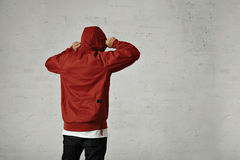 Man in a red anorak Stock Images
