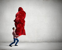 Man with red bag Royalty Free Stock Photo