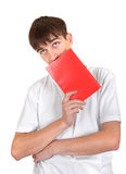 Man with Red Book Stock Images